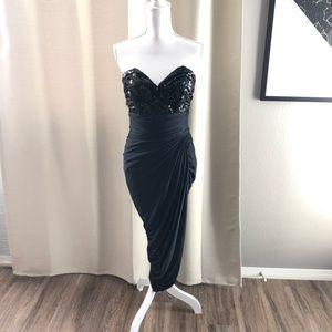 Black Strapless Tadashi Shoji Dress